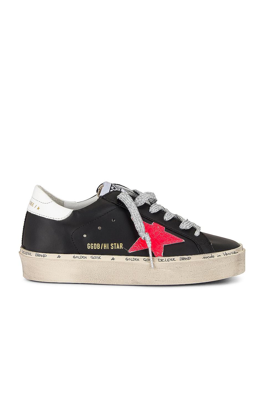 Image 1 of Golden Goose Hi Star Sneaker in Black, Pink & White
