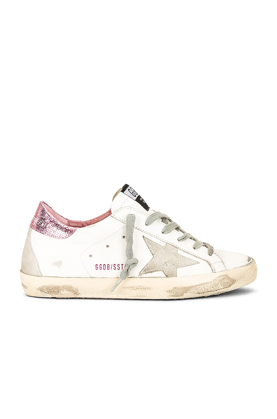 Image 1 of Golden Goose Superstar Sneaker in White, Ice & Pink