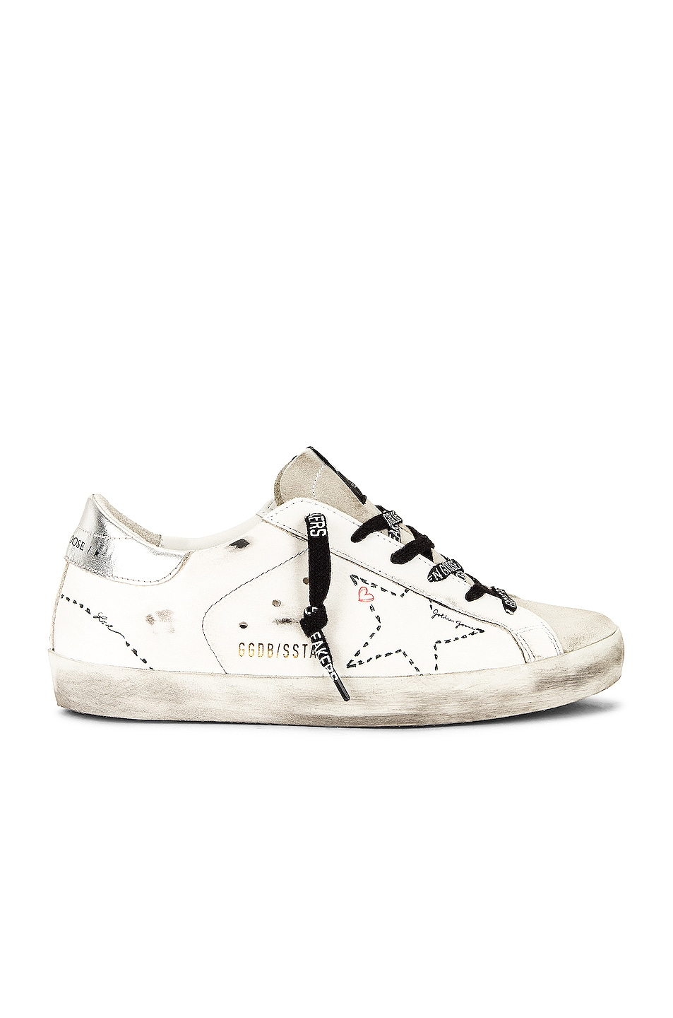 Image 1 of Golden Goose Superstar Sneaker in Ice, White & Silver