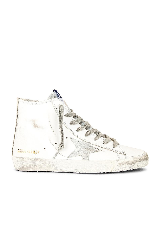 Image 1 of Golden Goose Francy Sneaker in White, Silver & Milk