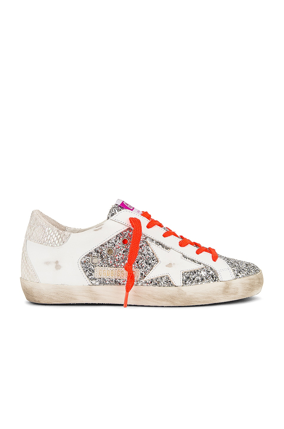 Image 1 of Golden Goose Super Star Sneaker in Silver, White & Ice