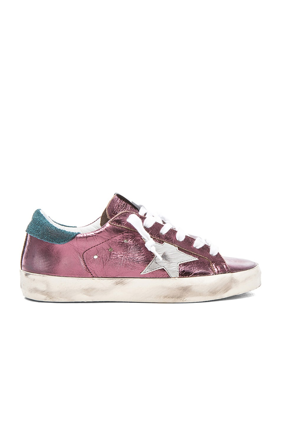 Image 1 of Golden Goose Superstar Low in Purple Lame
