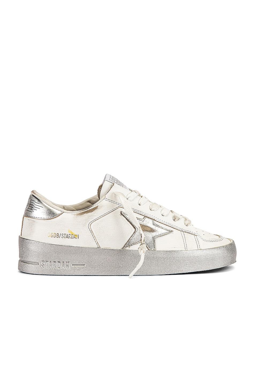Image 1 of Golden Goose Stardan Sneaker in White & Silver