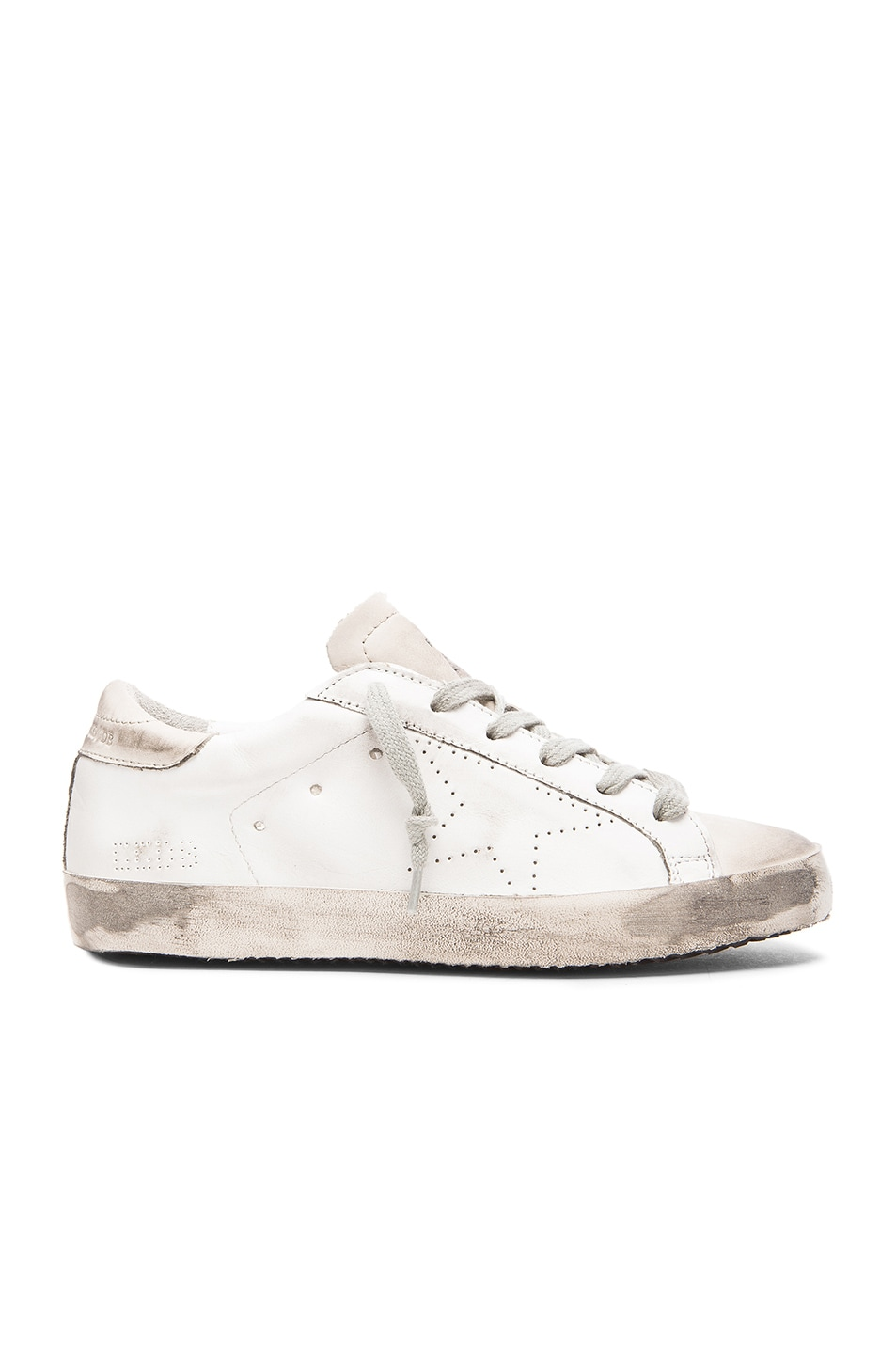 Image 1 of Golden Goose Superstar Low Top Leather Sneakers in White