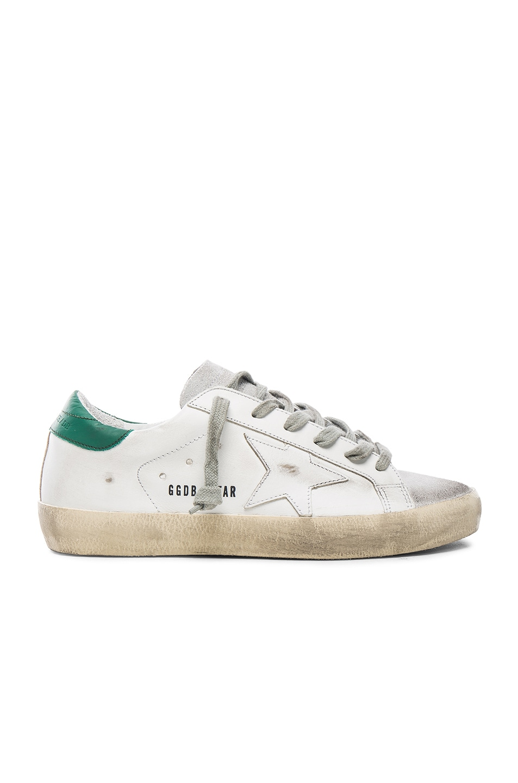 Golden Goose White & Green Superstar Sneaker suMYe19