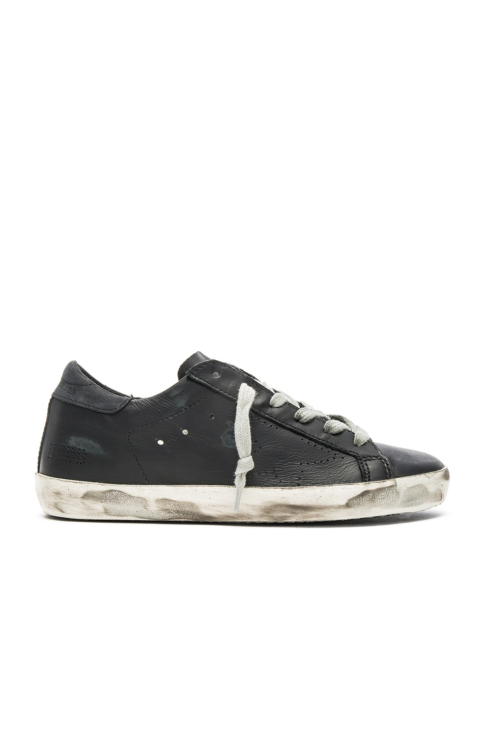 Image 1 of Golden Goose Leather Superstar Low in Black Skate