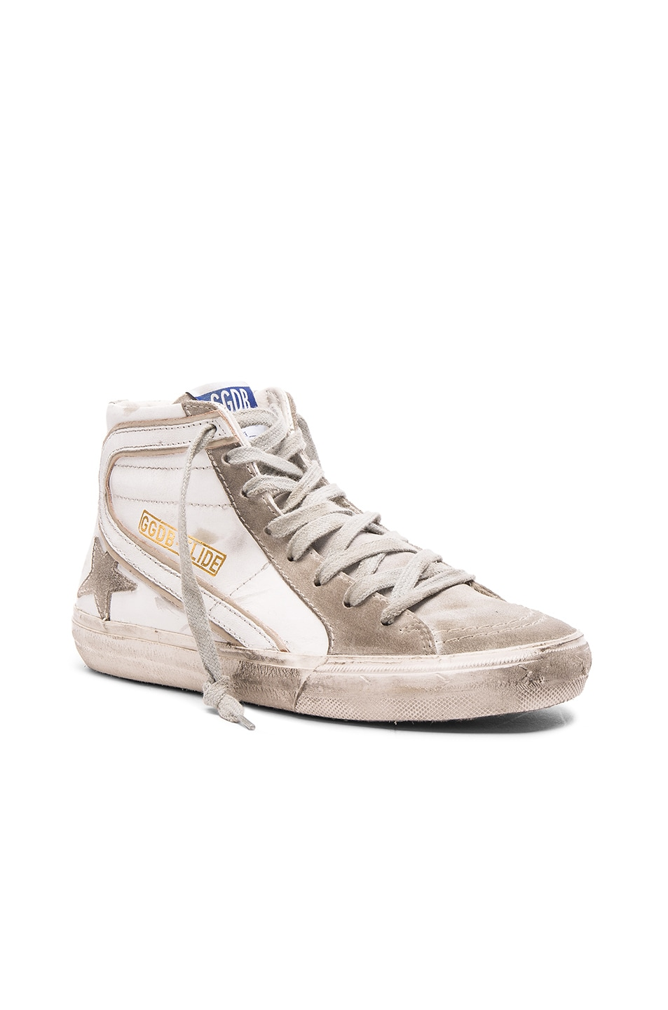 Image 2 of Golden Goose Slide Sneakers in White Leather