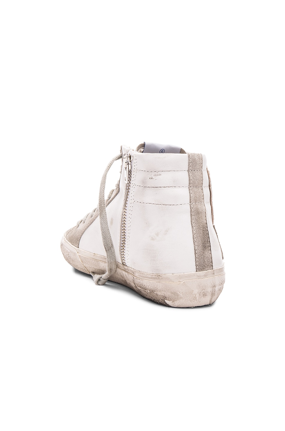 Image 3 of Golden Goose Slide Sneakers in White Leather