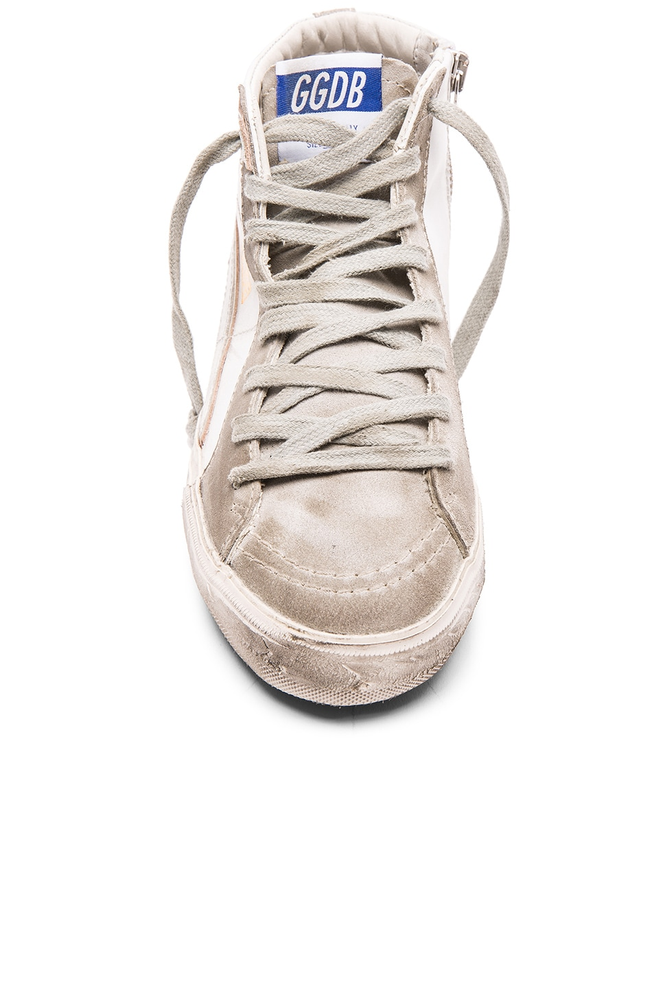 Image 4 of Golden Goose Slide Sneakers in White Leather