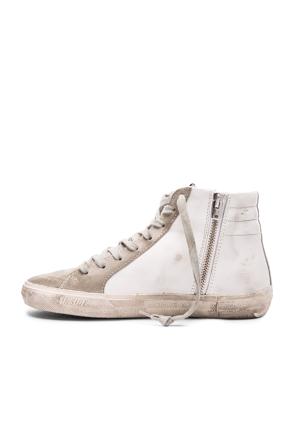 Image 5 of Golden Goose Slide Sneakers in White Leather