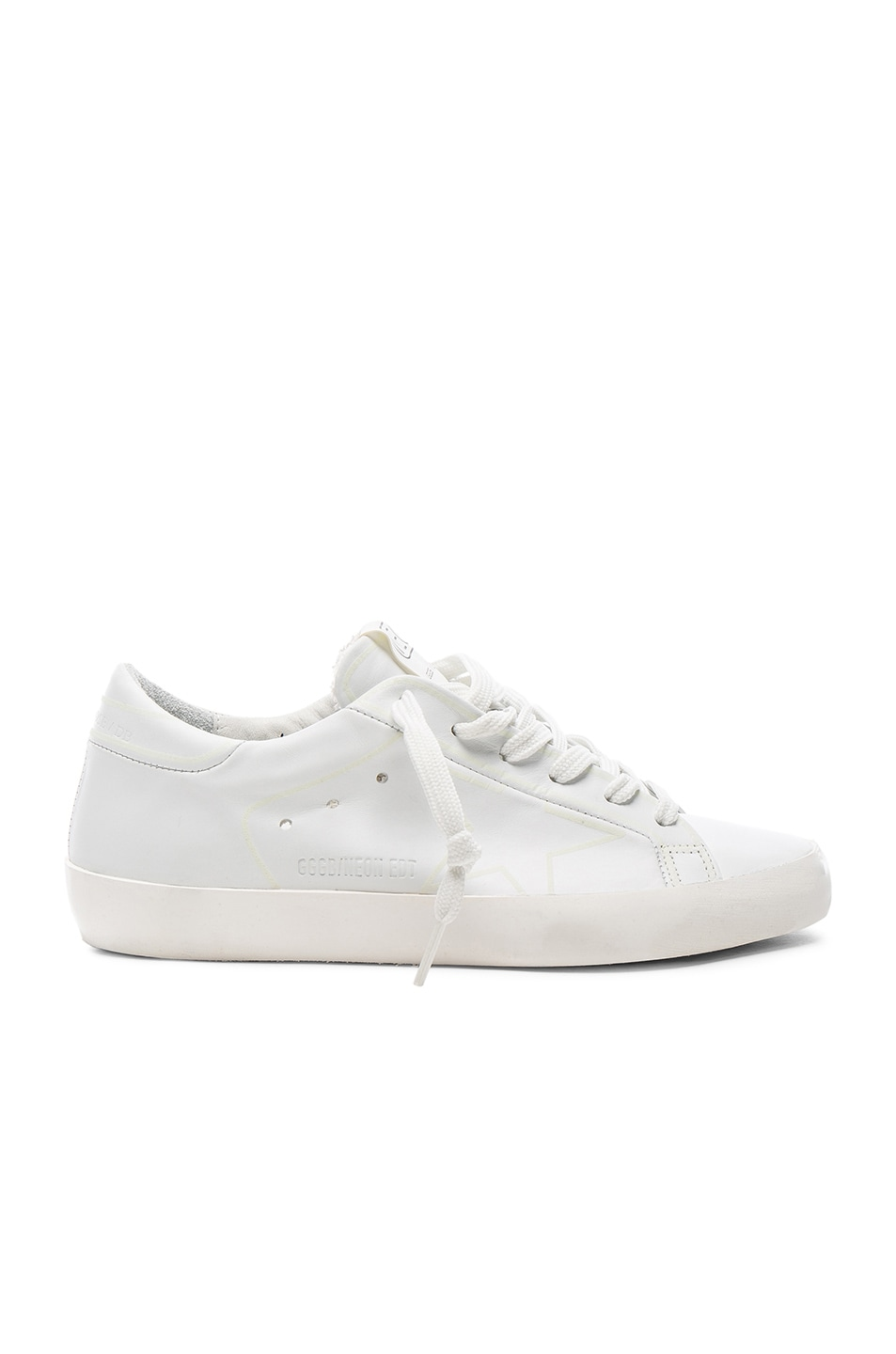 Image 1 of Golden Goose Glow Superstar Leather Low Sneakers in Neon