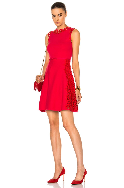 Image 1 of Giambattista Valli Knit Macrame in Red