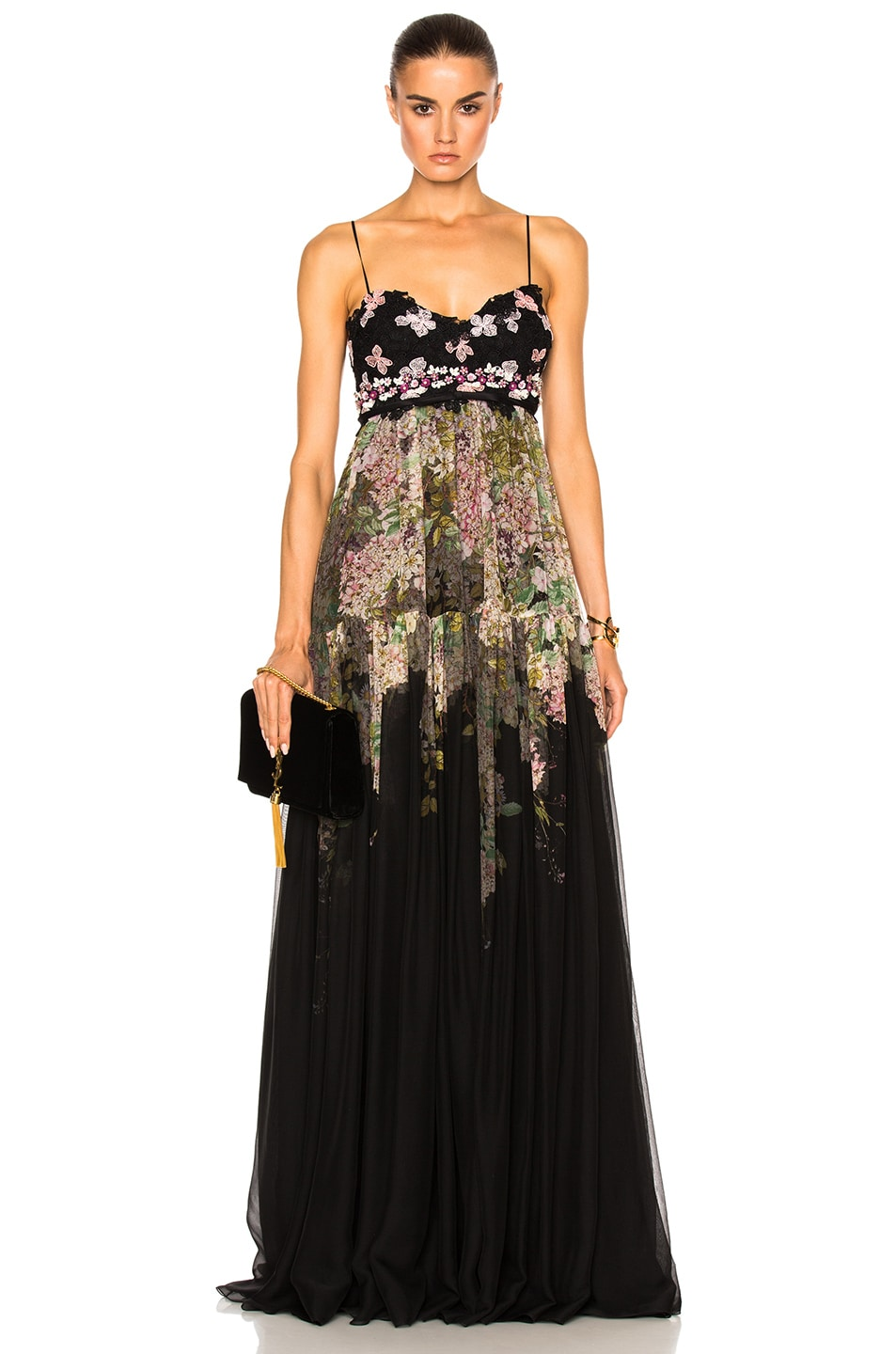 Image 1 of Giambattista Valli Printed Gown in Black