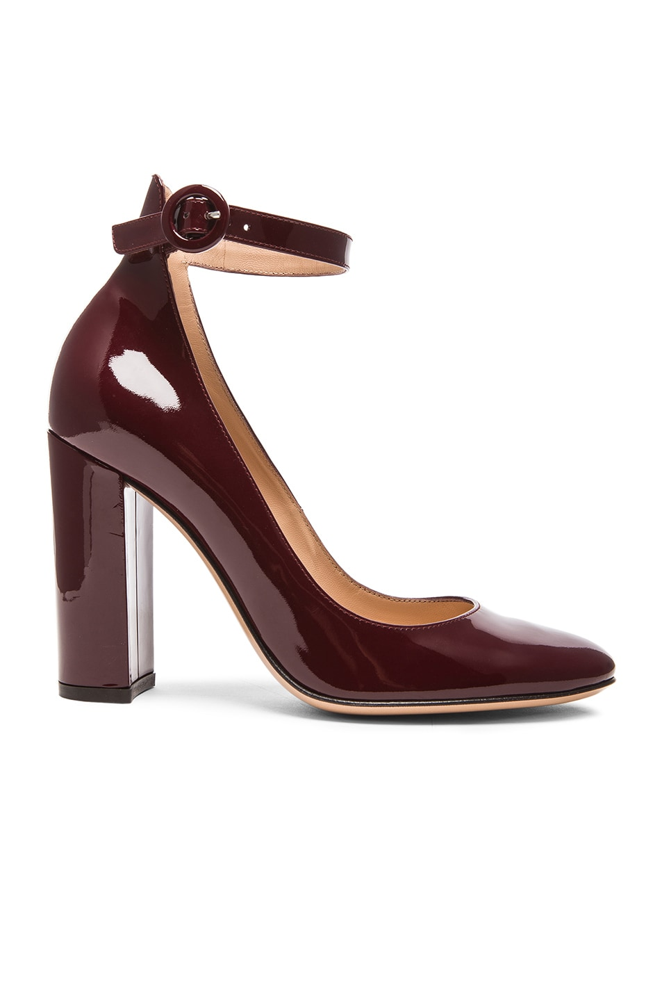 Image 1 of Gianvito Rossi Patent Leather Mary Jane Heels in Royale
