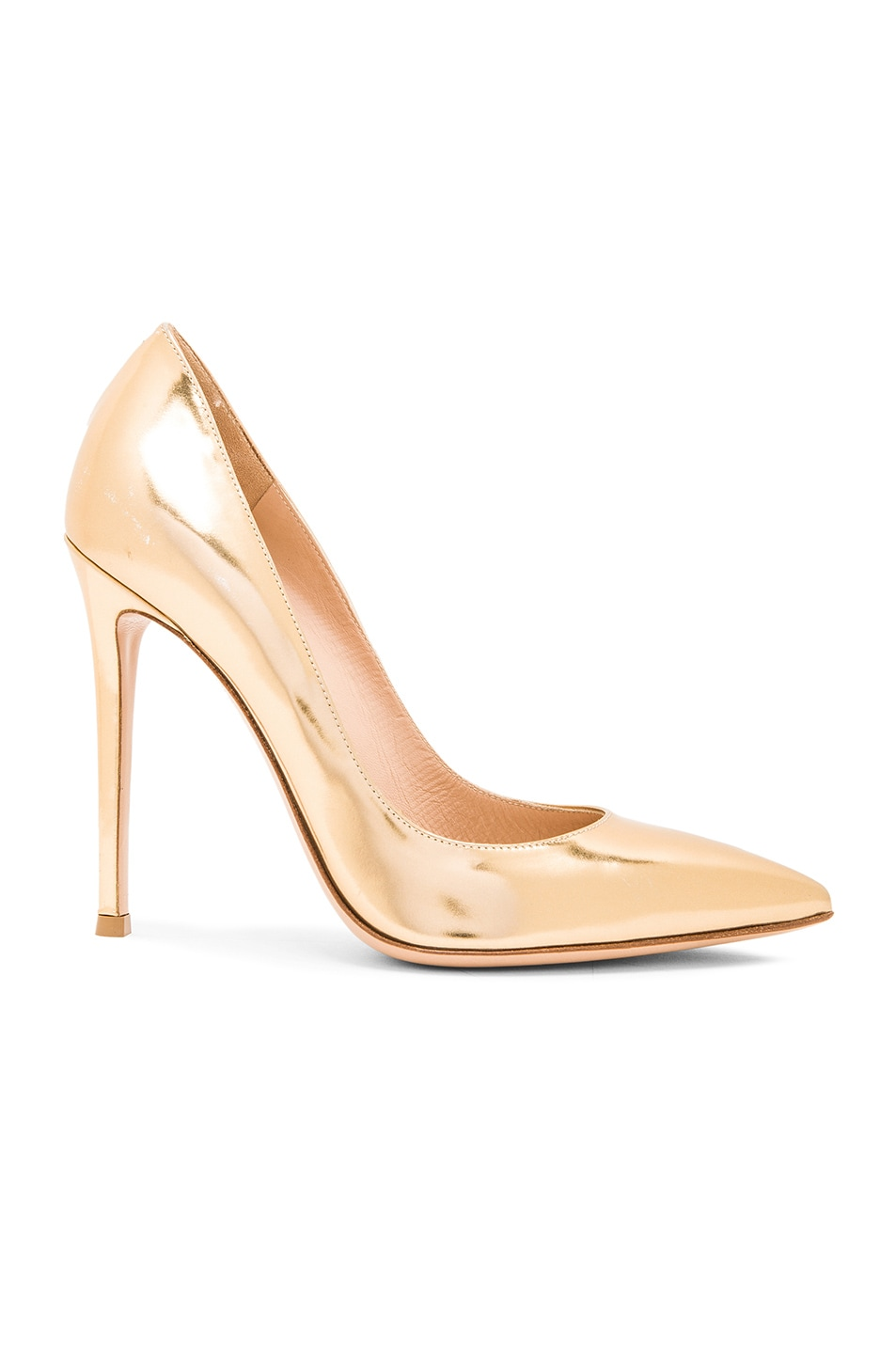 Image 1 of Gianvito Rossi Metallic Leather Gianvito Pumps in Mekong