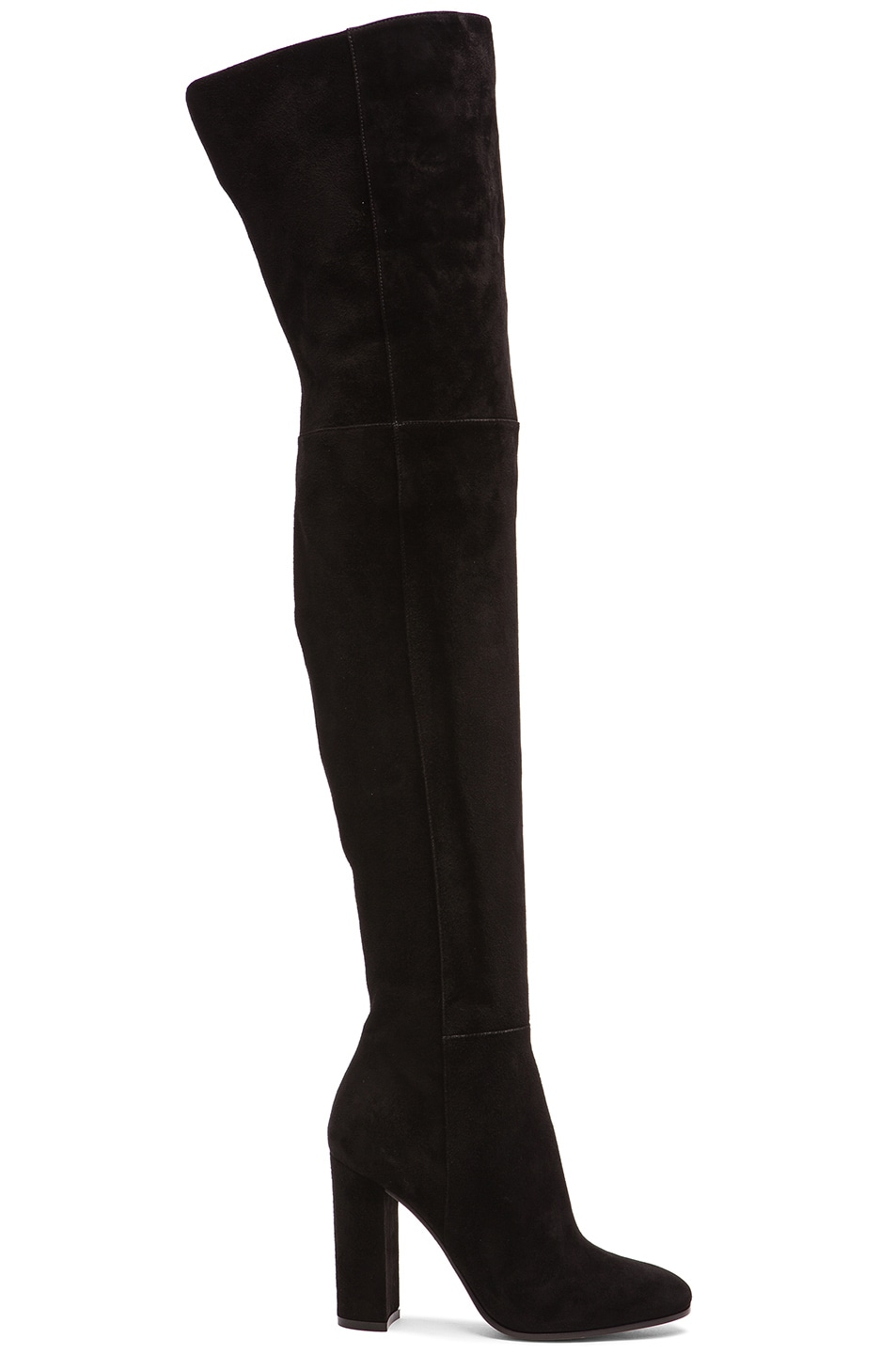 Image 1 of Gianvito Rossi Over The Knee Suede Boots in Black Suede