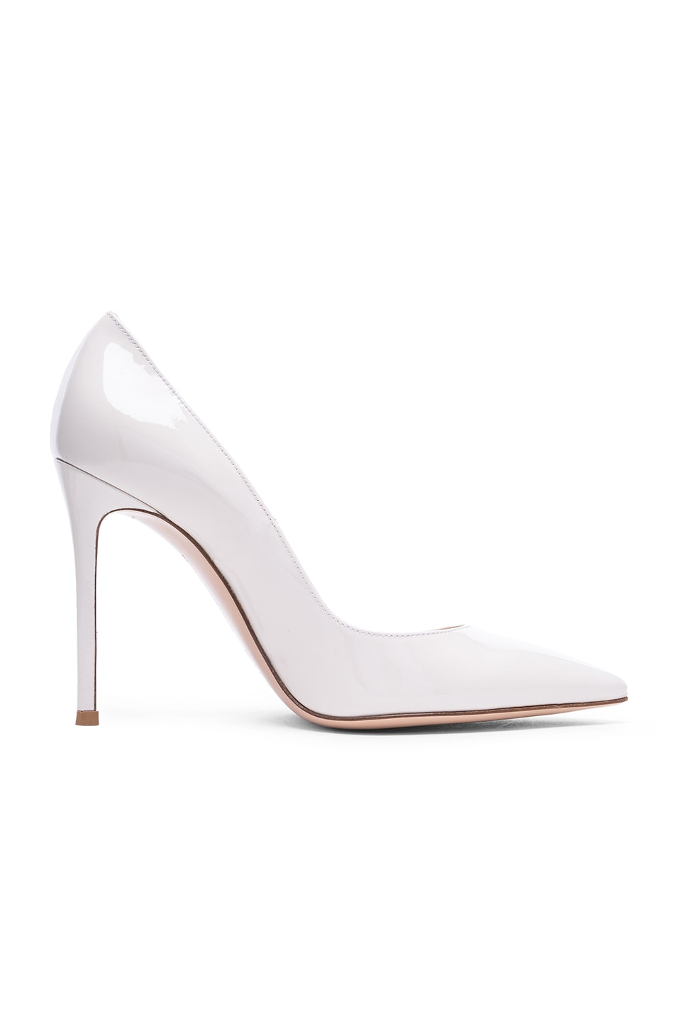 Image 1 of Gianvito Rossi Patent Leather Gianvito Pumps in Off White