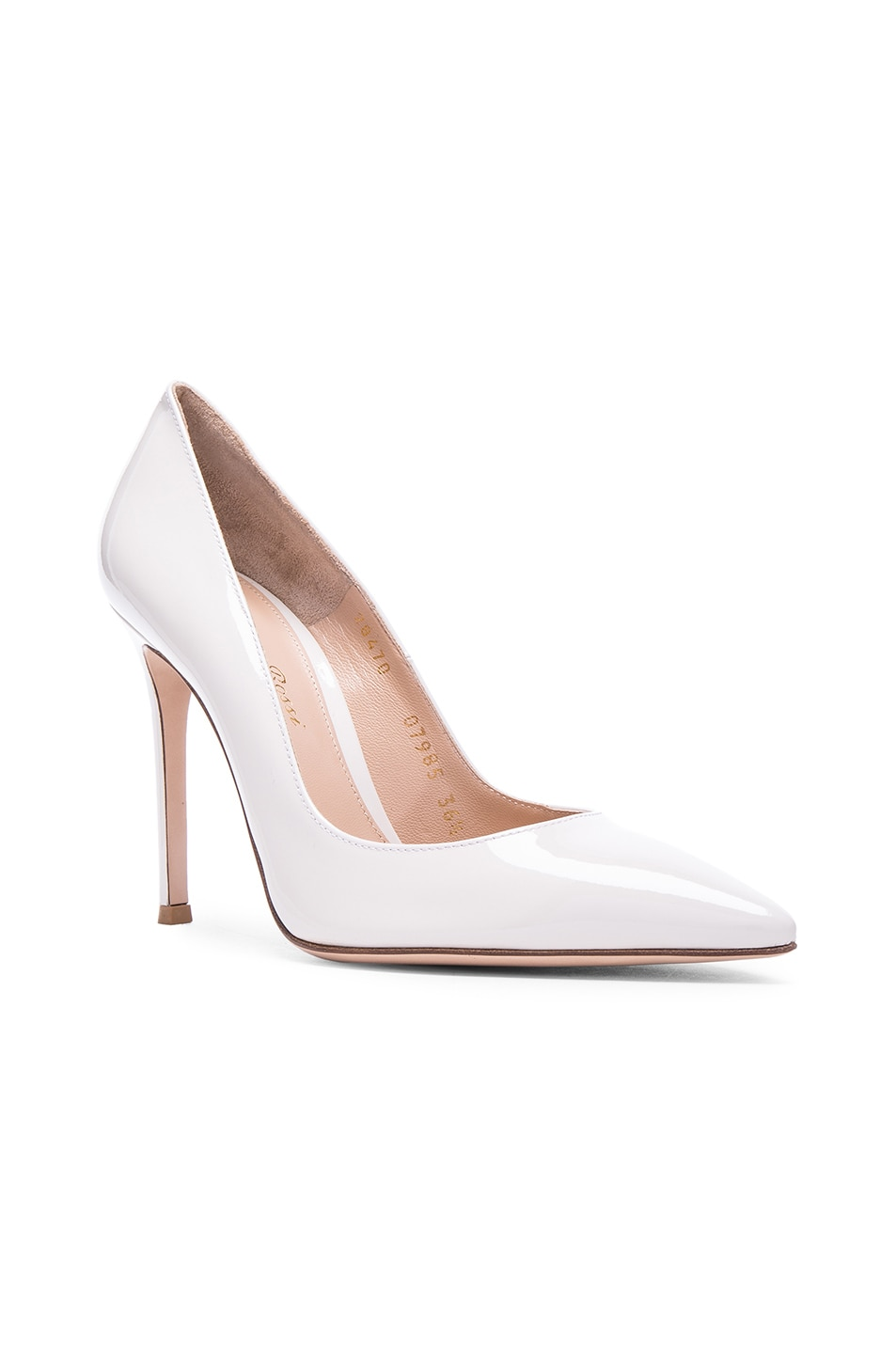 Image 2 of Gianvito Rossi Patent Leather Gianvito Pumps in Off White