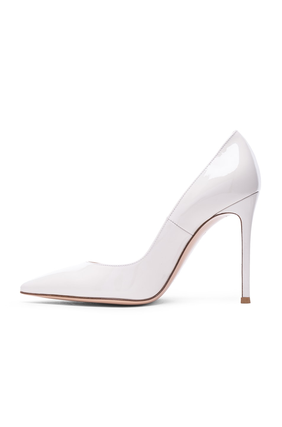 Image 5 of Gianvito Rossi Patent Leather Gianvito Pumps in Off White