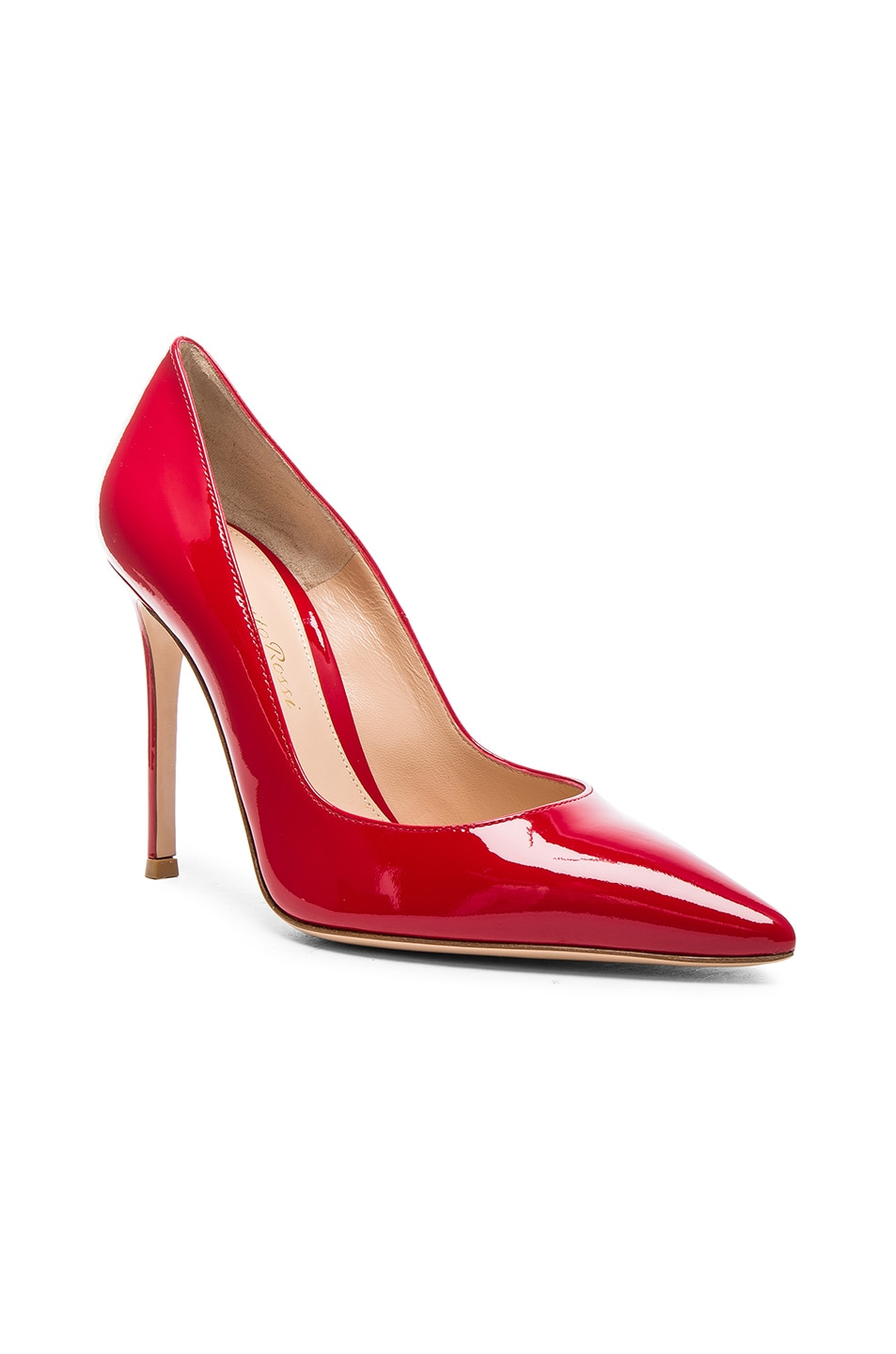 Image 2 of Gianvito Rossi Patent Leather Gianvito Pumps in Tabasco Red