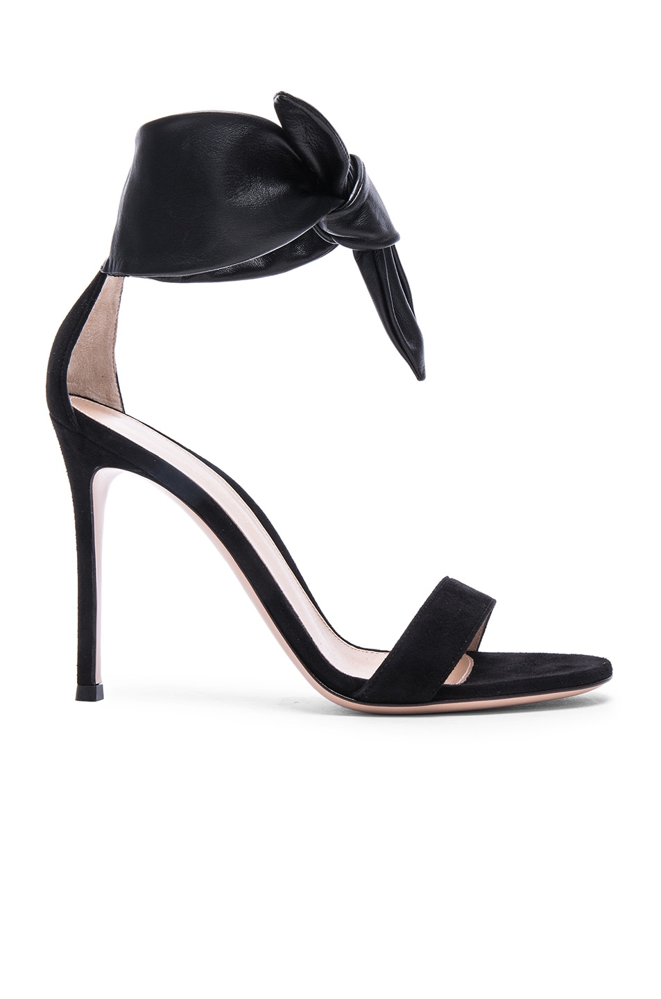 Image 1 of Gianvito Rossi Suede & Leather Bandana Heels in Black