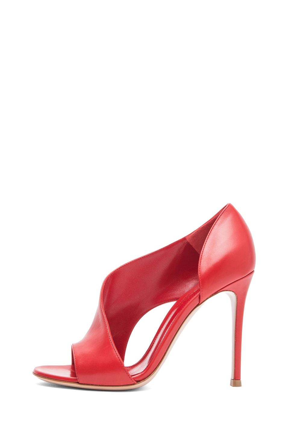 Image 1 of Gianvito Rossi Leather Heel in Red