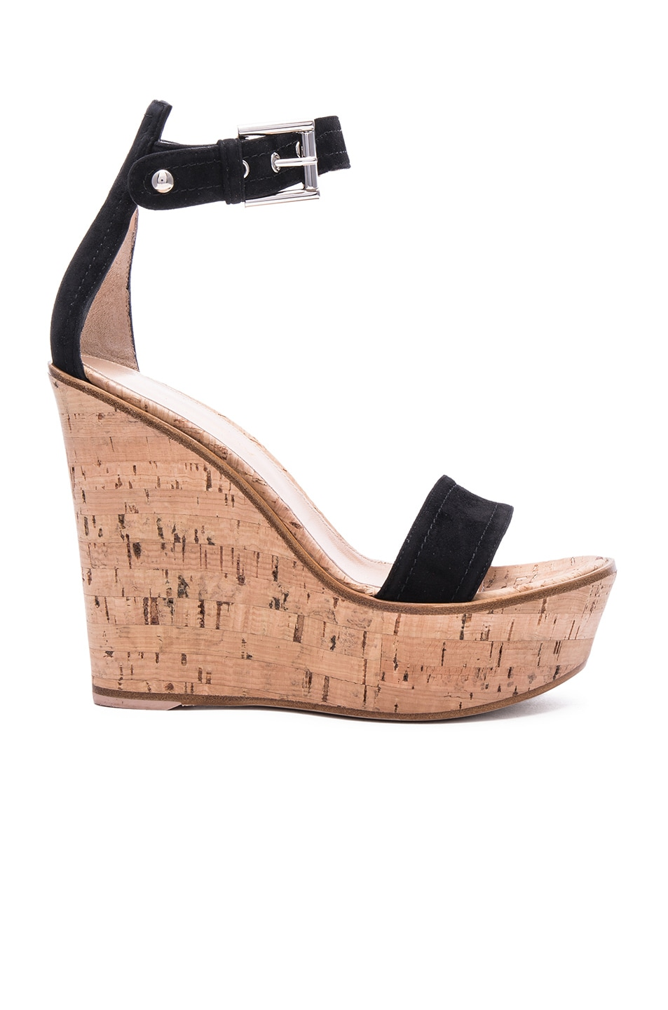 discount choice Sergio Rossi Cork Ankle Strap Wedges sale get to buy clearance online discount countdown package official site online 3YhgqaQ