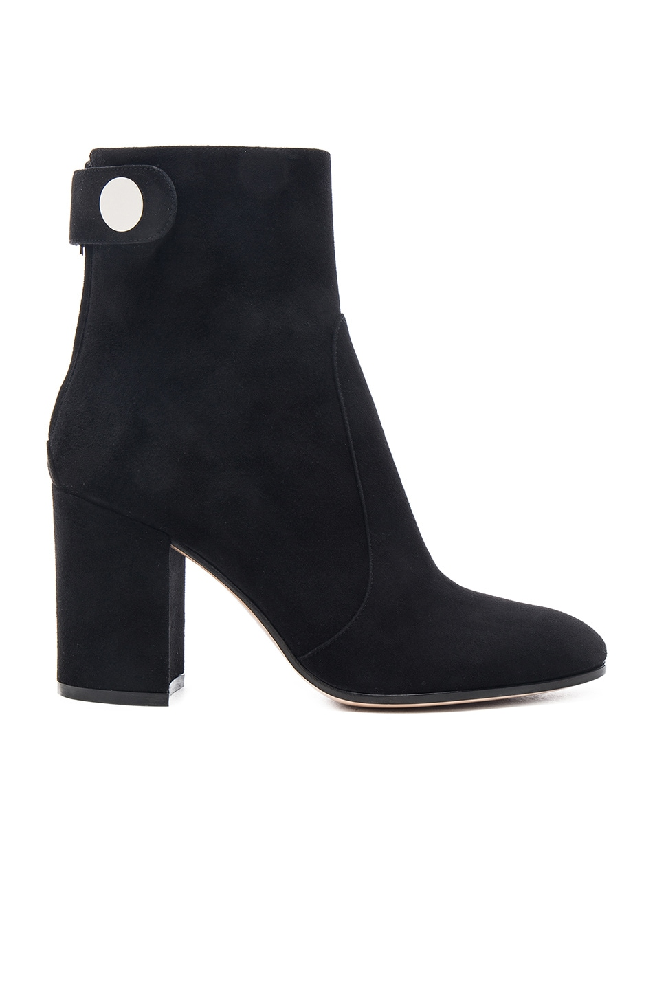 Image 1 of Gianvito Rossi Suede Chunky Heel Boots in Black