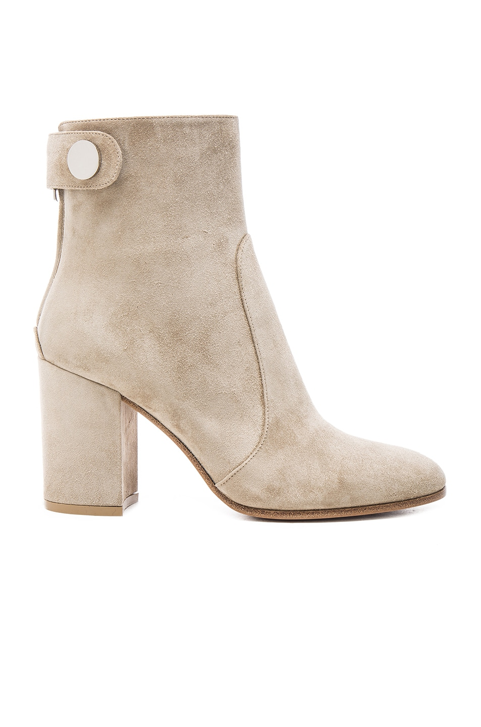 Image 1 of Gianvito Rossi Suede Chunky Heel Boots in Cachemire