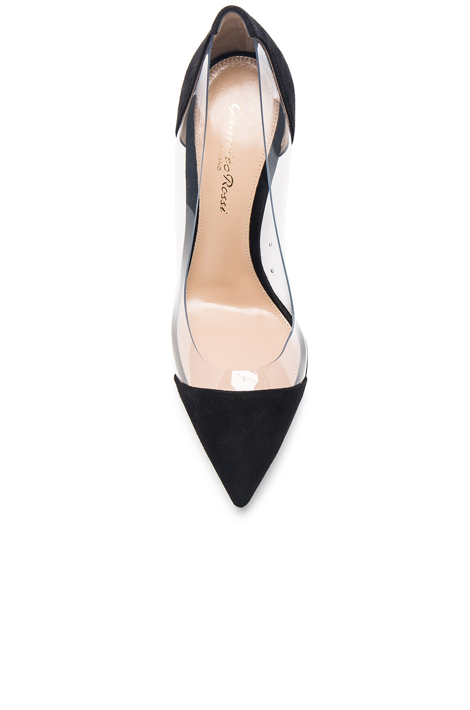 Image 4 of Gianvito Rossi Suede Plexi Pumps in Black