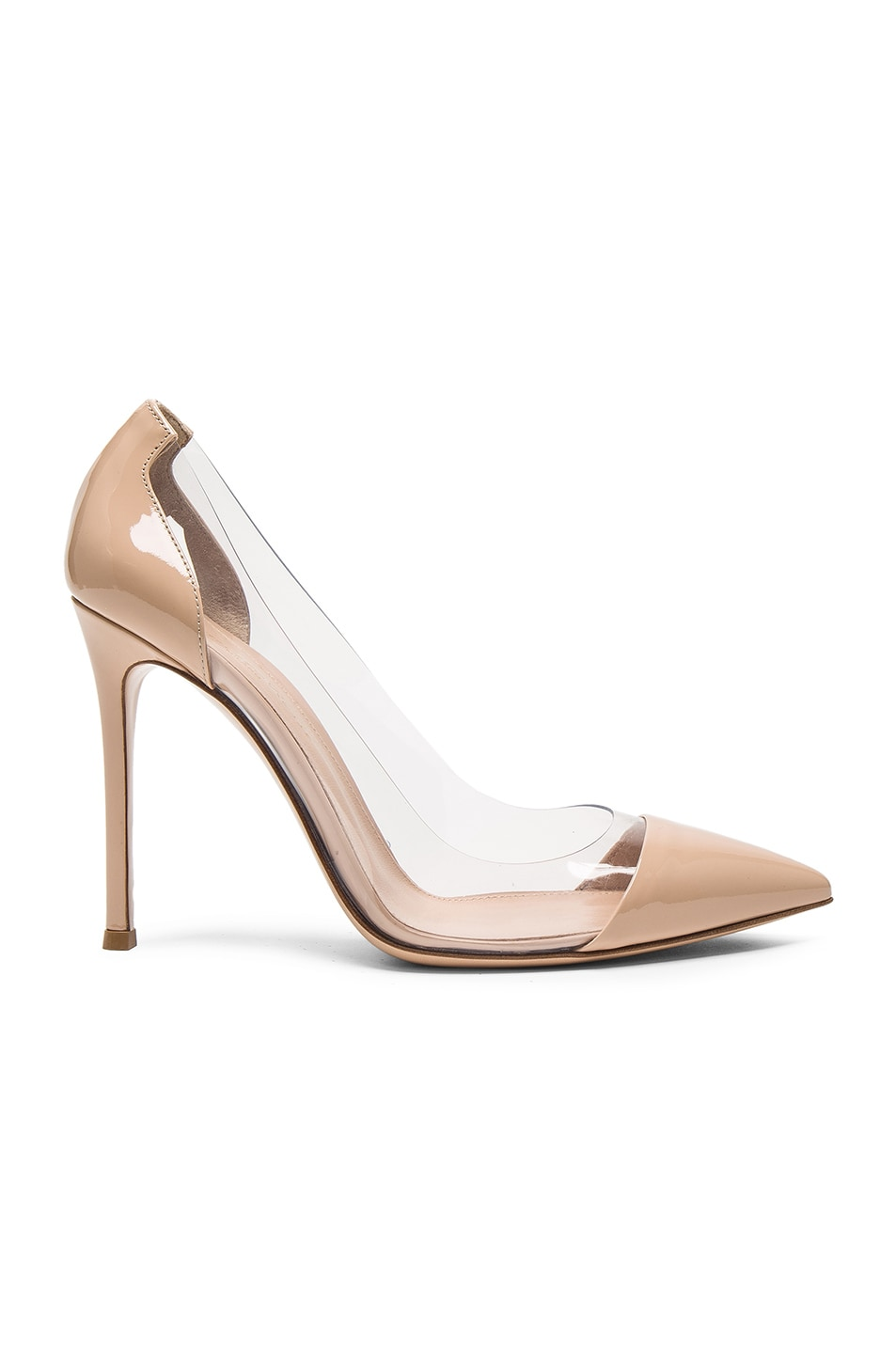 Gianvito Rossi Exclusive To Mytheresa.com - Plexi 85 Leather Pumps In Nude