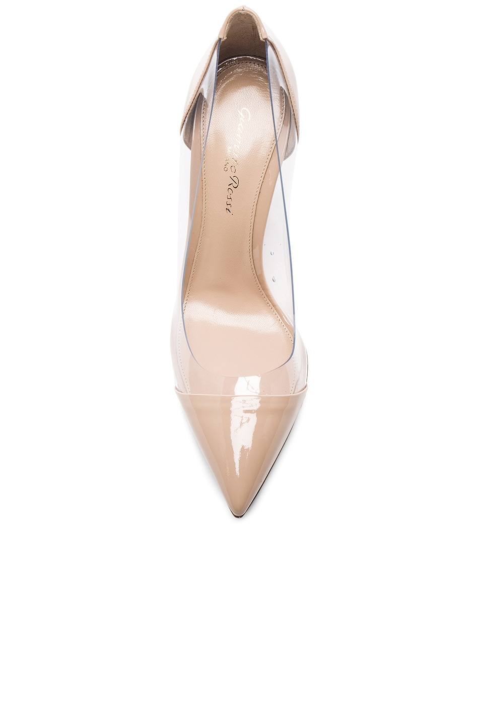 Image 4 of Gianvito Rossi Patent Leather Plexi Pumps in Nude