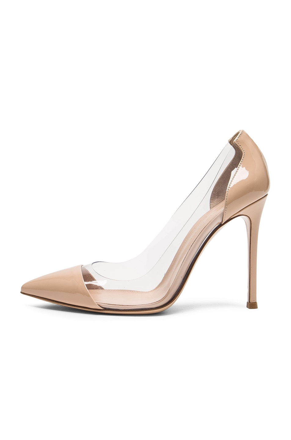 Image 5 of Gianvito Rossi Patent Leather Plexi Pumps in Nude