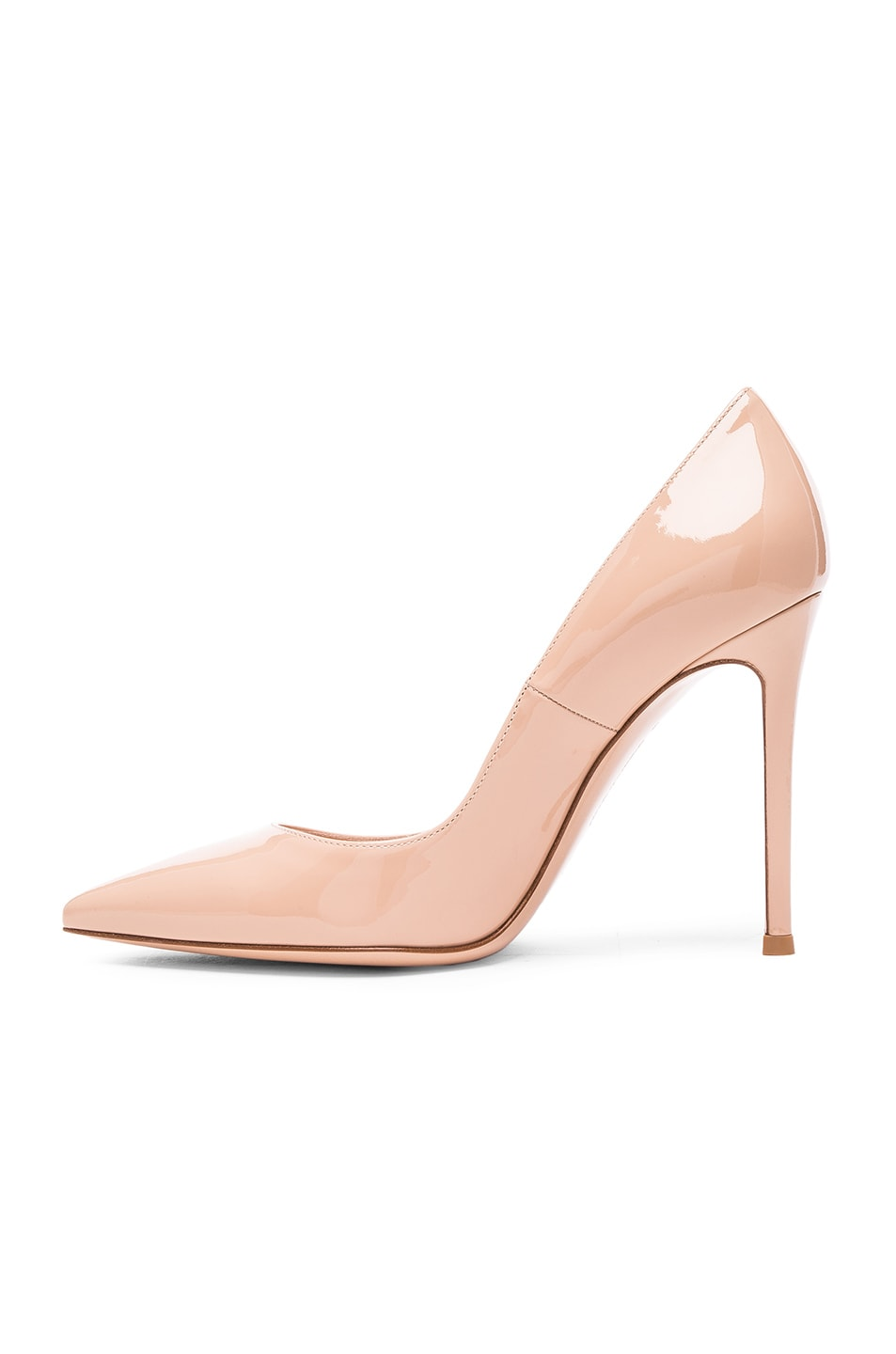 Image 5 of Gianvito Rossi Patent Leather Gianvito Pumps in Nude