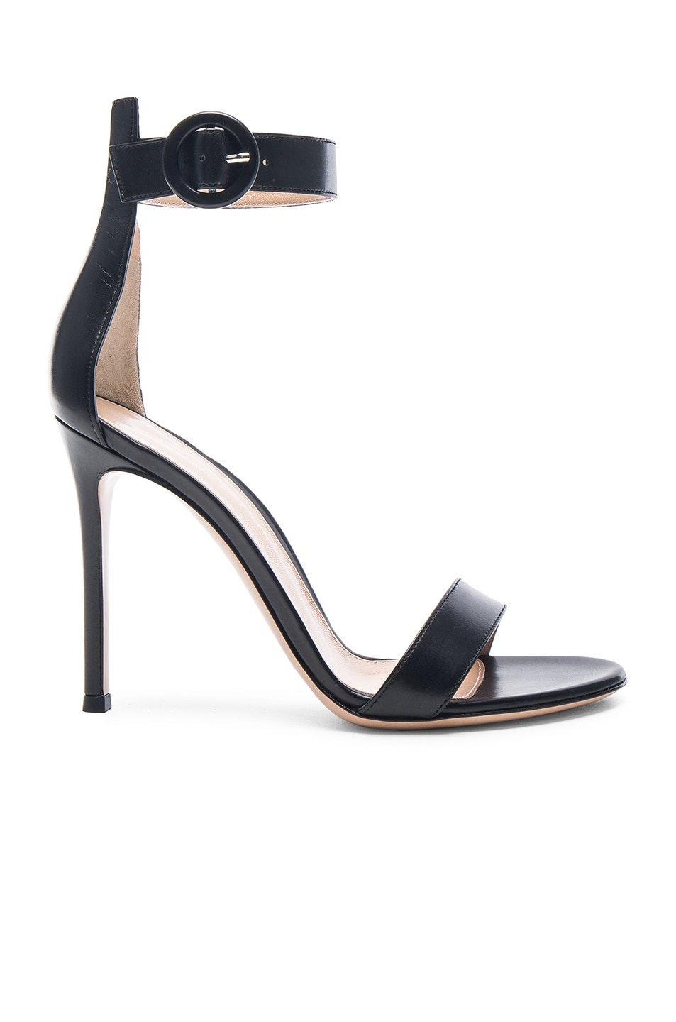 Image 1 of Gianvito Rossi Leather Portofino Heels in Black