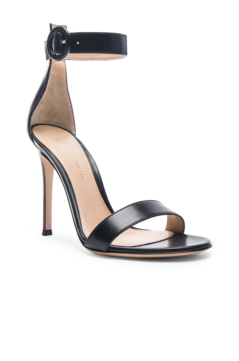 Image 2 of Gianvito Rossi Leather Portofino Heels in Black