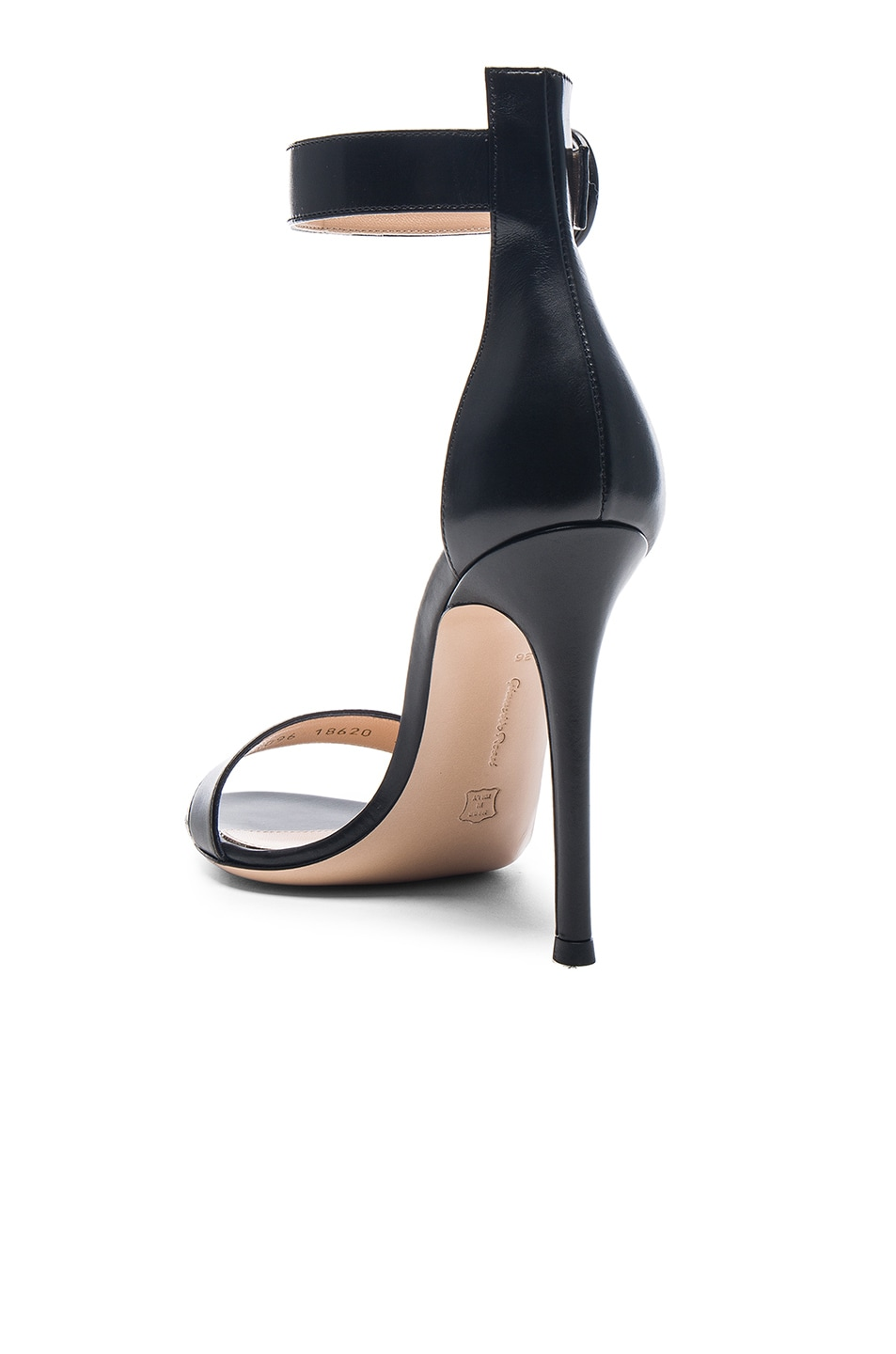 Image 3 of Gianvito Rossi Leather Portofino Heels in Black