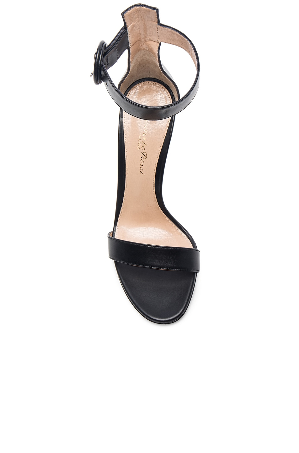 Image 4 of Gianvito Rossi Leather Portofino Heels in Black