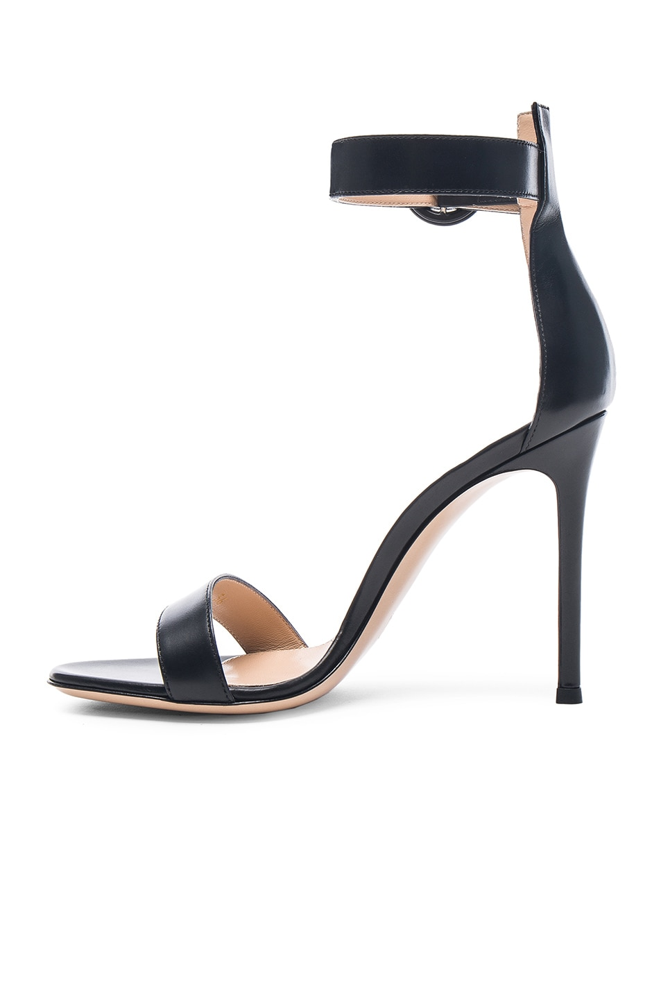Image 5 of Gianvito Rossi Leather Portofino Heels in Black