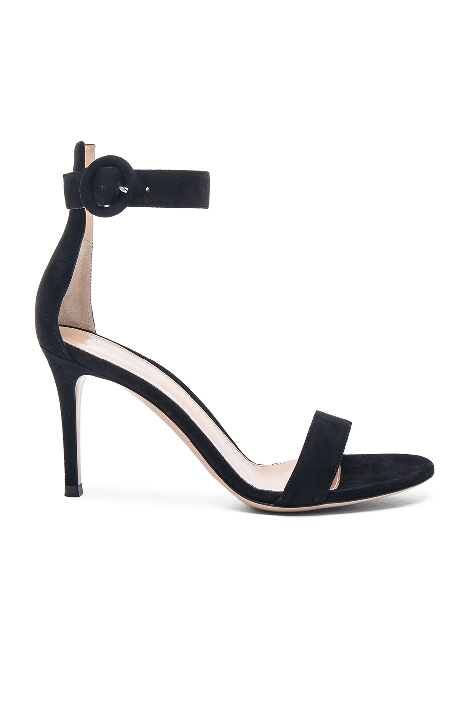 Image 1 of Gianvito Rossi Suede Portofino Heels in Black