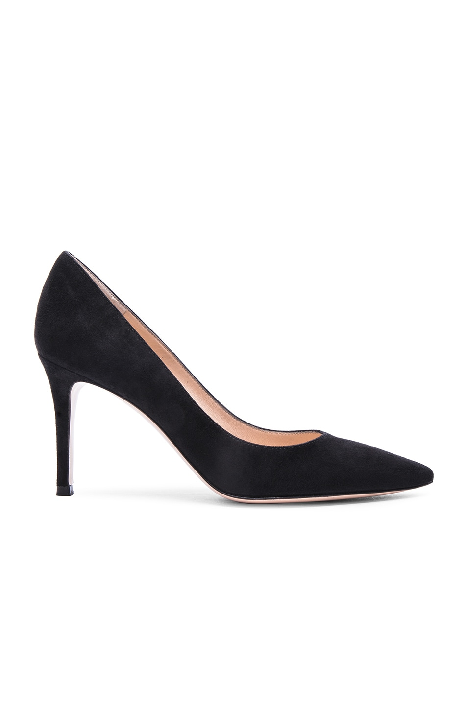 Image 1 of Gianvito Rossi Suede Heels in Black