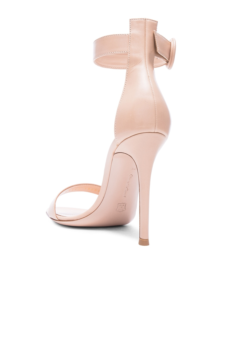 Image 3 of Gianvito Rossi Leather Portofino Heels in Nude
