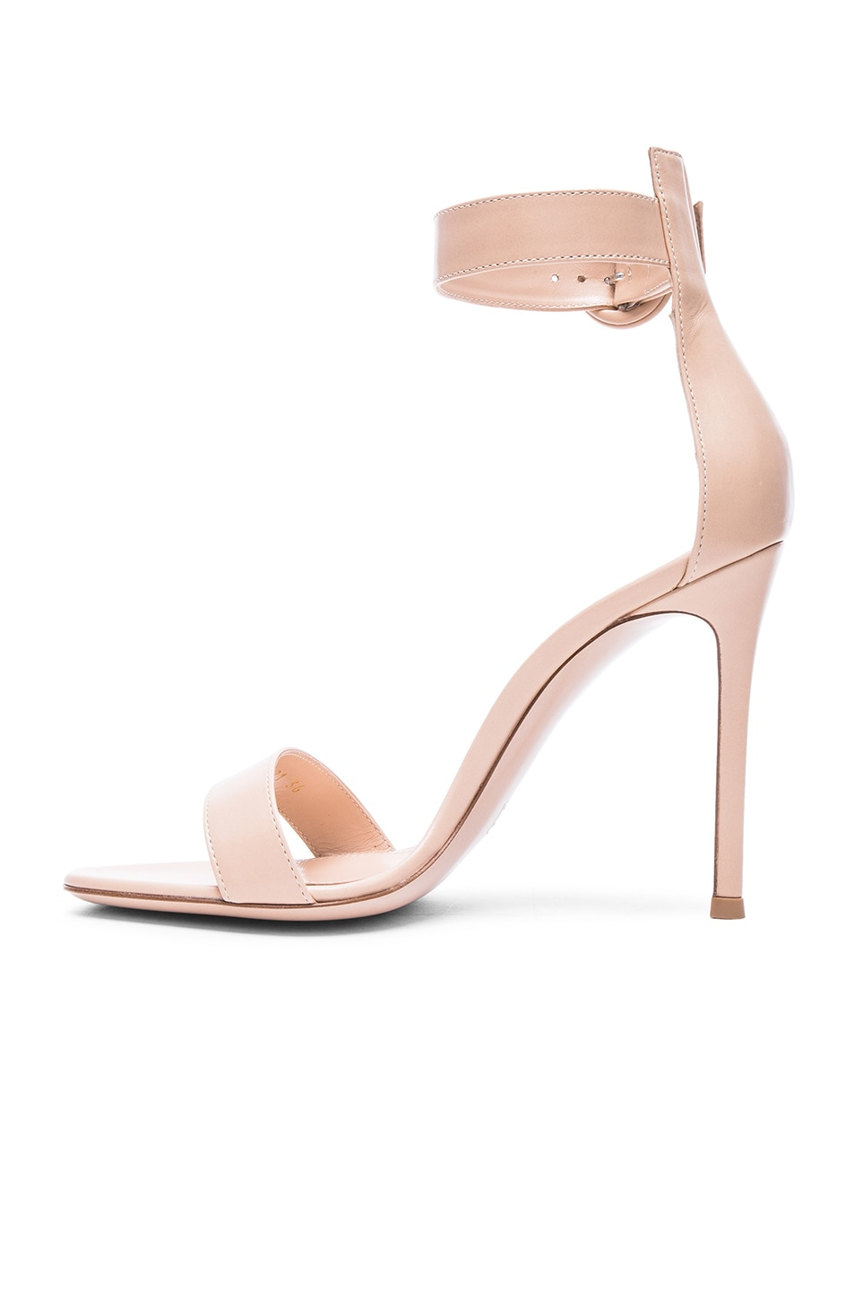 Image 5 of Gianvito Rossi Leather Portofino Heels in Nude