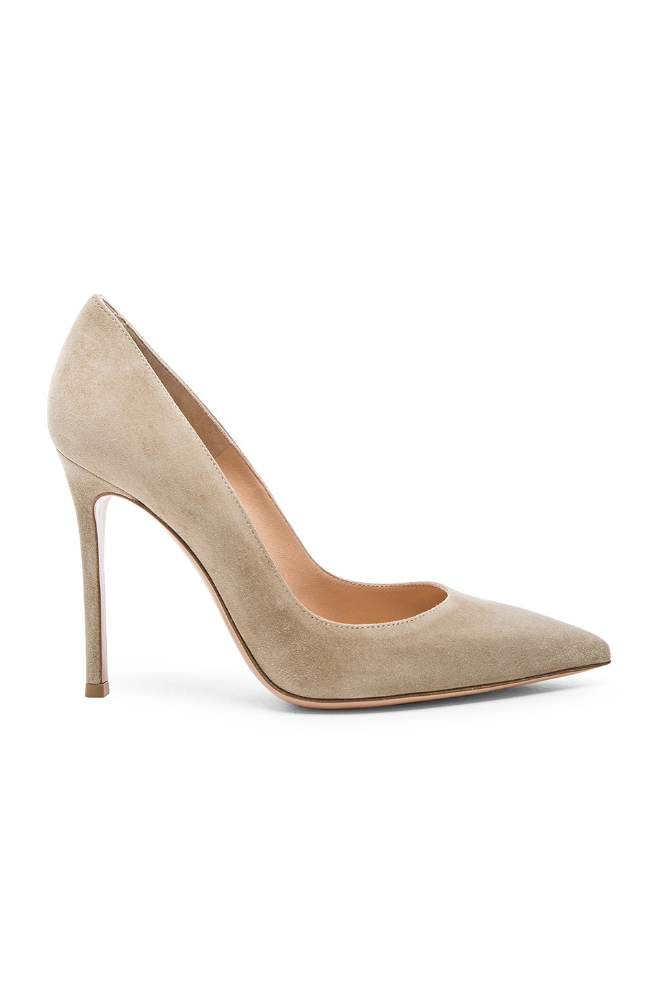 Image 1 of Gianvito Rossi Suede Gianvito Heels in Camel