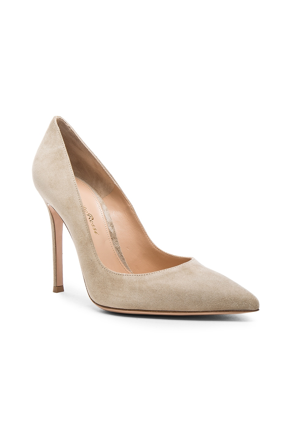Image 2 of Gianvito Rossi Suede Gianvito Heels in Camel