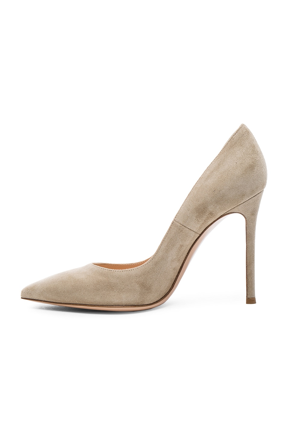 Image 5 of Gianvito Rossi Suede Gianvito Heels in Camel