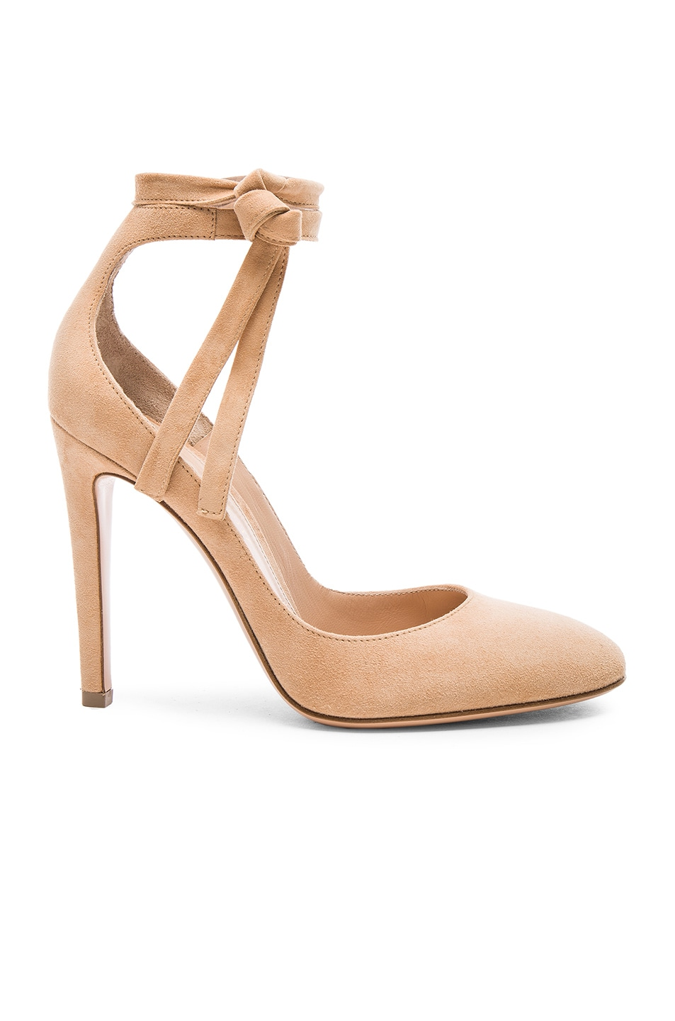 Image 1 of Gianvito Rossi Suede Carla Pumps in Powder