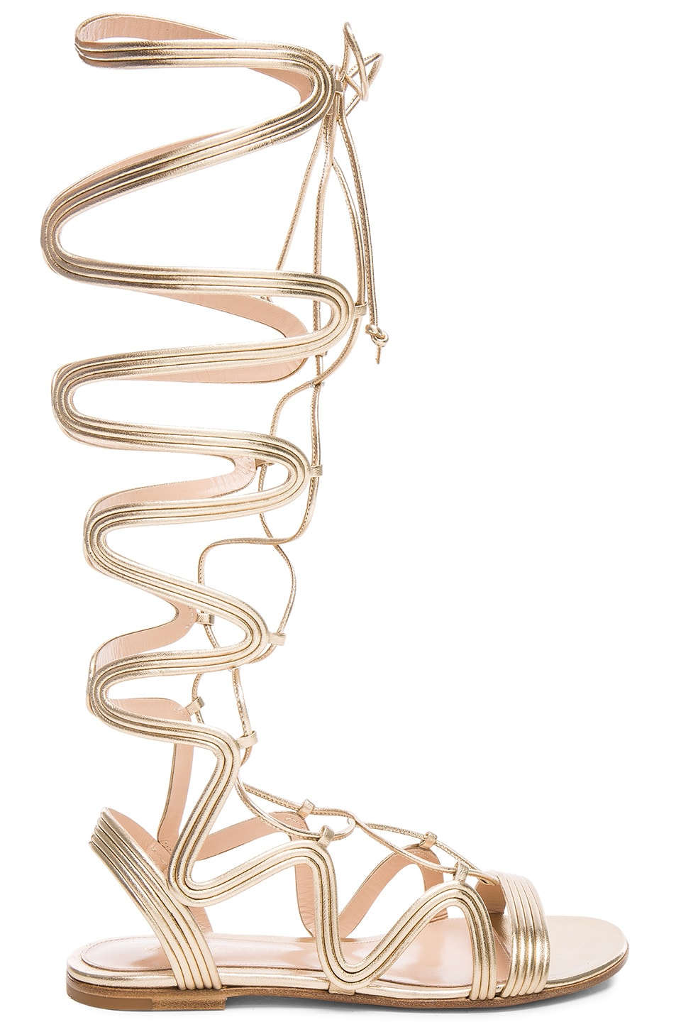 Image 1 of Gianvito Rossi Leather Medusa Gladiator Sandals in Mekong