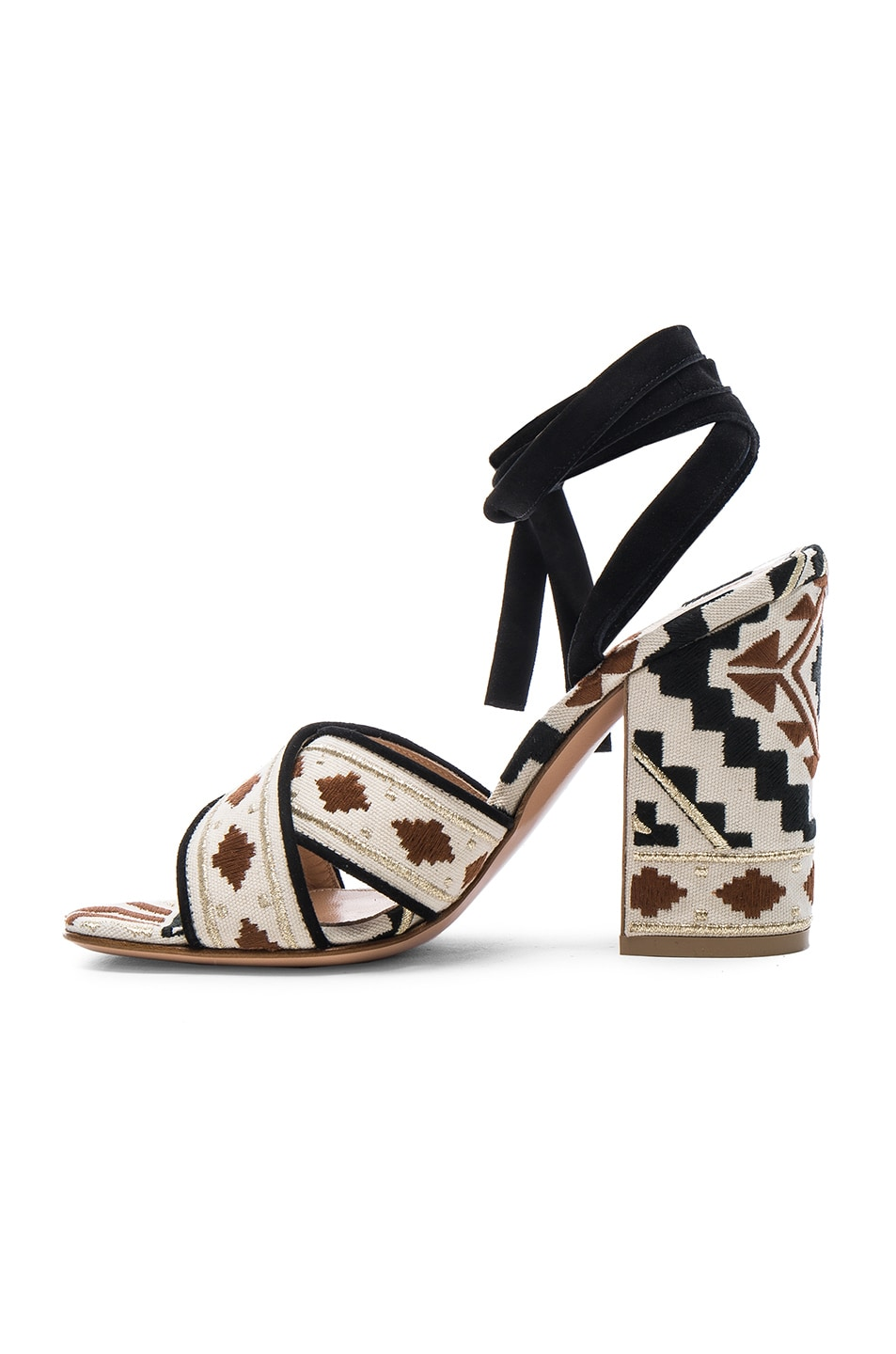 Image 5 of Gianvito Rossi Cheyenne Printed Heels in Black