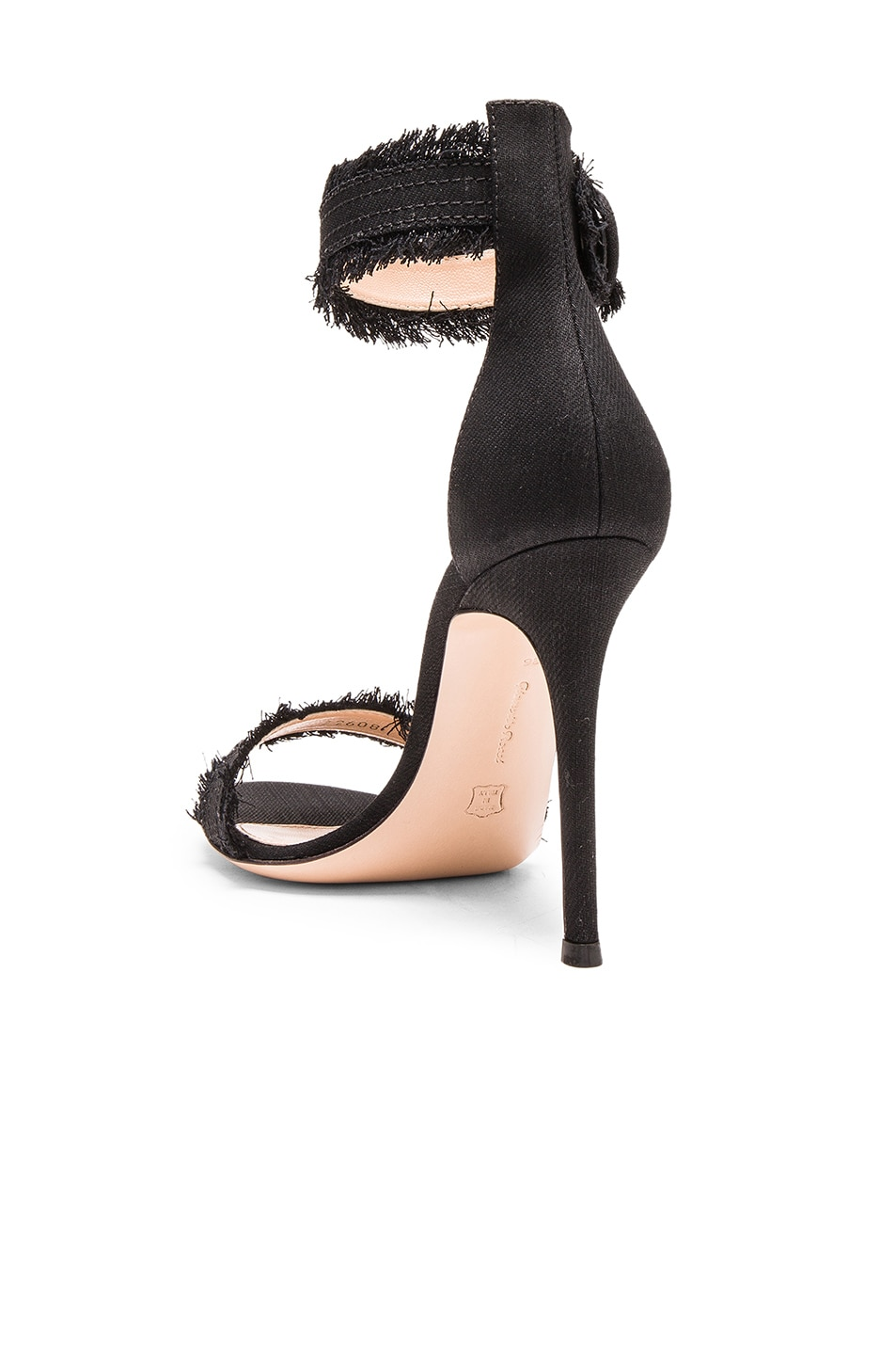 Image 3 of Gianvito Rossi Denim Lola Heels in Dark Black
